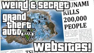 GTA5 Hit By Tsunami! Weird & Secret Websites Found on Grand Theft Auto V!
