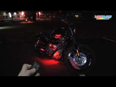 Red LED Flexible Motorcycle Lighting Kit
