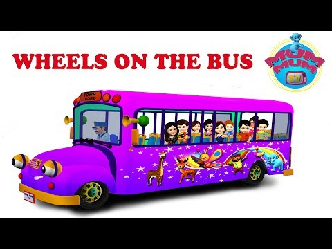 The wheels on the Bus Nursery Rhymes for Children Video Songs   Lyrics for Kids and Babies
