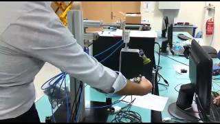 Working of a 3 axis robotic arm with PLC programming