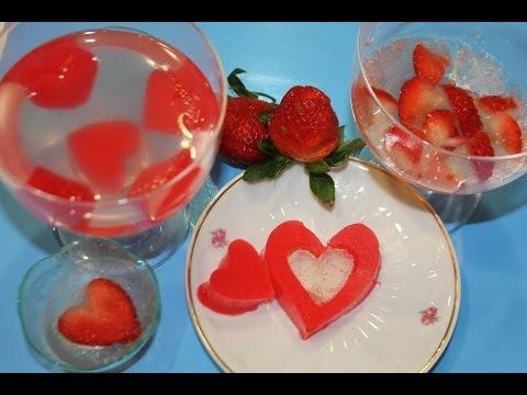 Fresas y gelatina de Gin Tonic para San Valentín