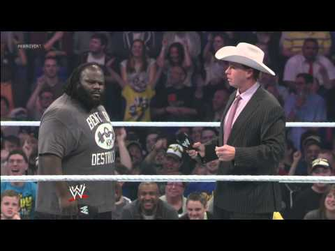 JBL wants to see Mark Henry in action: WWE Main Event, April 24, 2013