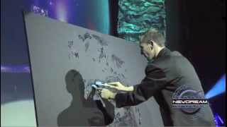 EriK BLACK PAINTING - Glitter Painting - Speed Painting - show for event