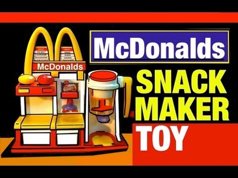 McDonalds Toys Hamburger Maker Playset Vintage McDonald's Snack Food Maker Toy Review by Mike Mozart