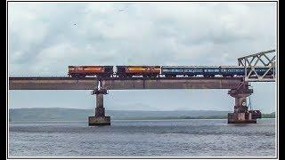 Zuari Bridge GOA | Plane over Train & Ferry | Heavy Chugging ALCO Twins | Indian Railways