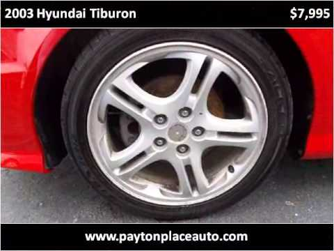 2003 Hyundai Tiburon Used Cars Seymour, Columbus IN