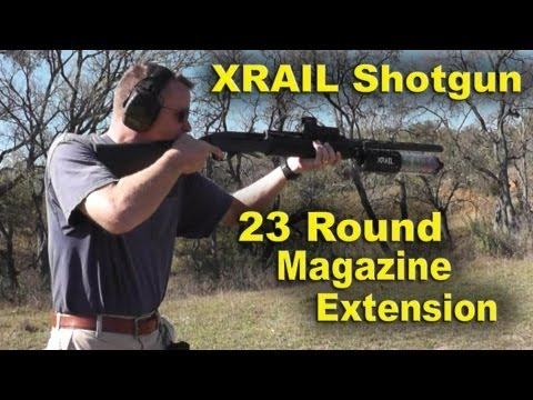 High Capacity 12 gauge Shotgun Extention. Full Review of the XRAIL
