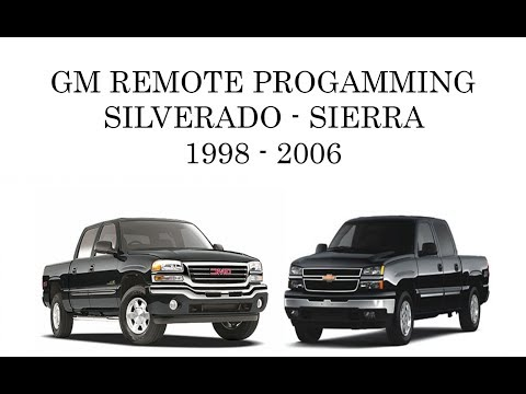 How To: Program GM Silverado Sierra Keyless Remote Transmitter