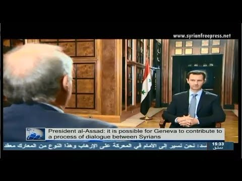 Syria News 20/1/14, President Bashar al-Assad's interview with Agence France Presse