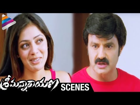 Srimannarayana Movie Scenes - Balakrishna trying to hide Parvathi Melton from Isha Chawla