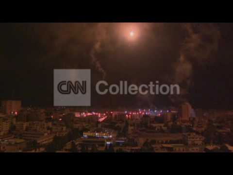 GAZA SKYLINE MONDAY: FLARES AND EXPLOSIONS