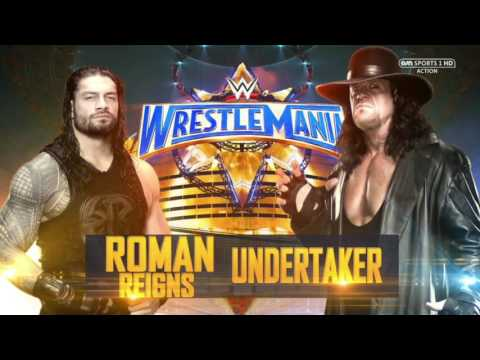 Image result for wrestlemania 33 roman reigns vs undertaker