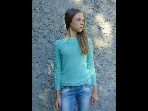 Вязание спицами свитера для начинающих мастер класс 46