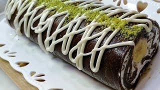 Pişirme Yapmadan Hazırlayabileceğiniz Pratik Muzlu Rulo Pasta Tarifi - BİLİK AİLESİ