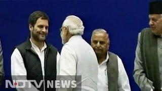 PM Narendra Modi, Rahul Gandhi shake hands on Sharad Pawar's birthday