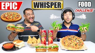 EPIC WHISPER FOOD EATING CHALLENGE | Pizza Eating Competition | Food Challenge