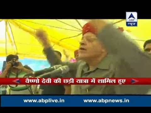 "Former CM Farooq Abdullah chants ""Jai Maata Di"""