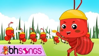 Ants Go Marching | Nursery Rhymes Songs with Lyrics and Action for Babies [Vocal 4K]