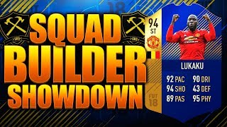 EPIC TOTS LUKAKU SQUAD BUILDER SHOWDOWN! FIFA 18 ULTIMATE TEAM