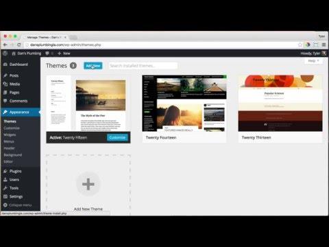6 - WordPress Themes & Installation