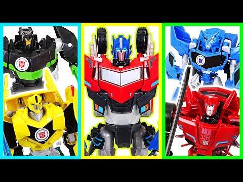 Transfomers : RID! Defeat the dinosaurs! Optimus Prime, Bumblebee, Grimlock! - DuDuPopTOY