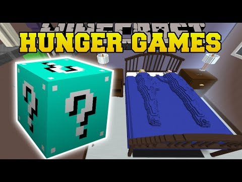 Minecraft GIANT BED HUNGER GAMES - Lucky Block Mod - Modded Mini-Game