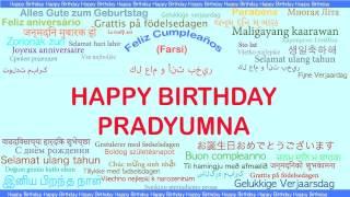 Pradyumna   Languages Idiomas - Happy Birthday