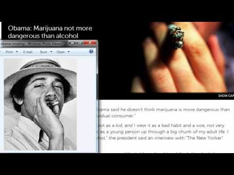 Pro Weed President?  Obama Says Marijuana Safer Than Alcohol!