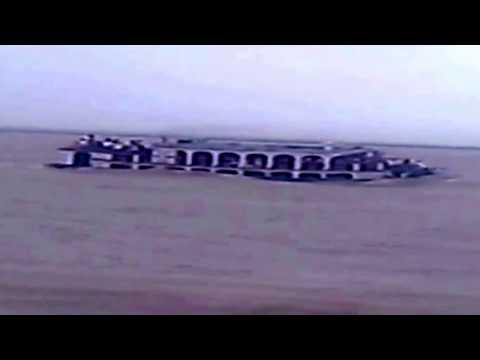 Launch Pinak-6 sinks at Padma River in Bangladesh on August 4, 2014