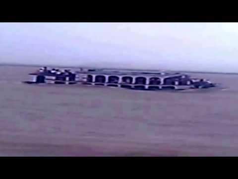 Launch Pinak-6 sinks at Padma River in Bangladesh on August 4, 2014