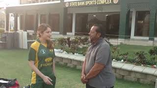 Tv artist Neelam Muneer giving her views about SBP Sports Complex