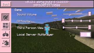 minecraft pe v 0.12.1 alpha bluid 6 ve F5 mod !!