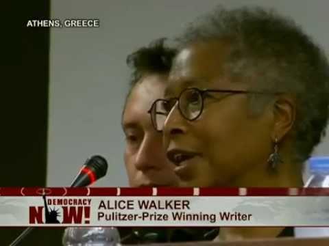 Author Alice Walker Joins U.S. Aid Ship to Confront Israeli Naval Blockade of Gaza