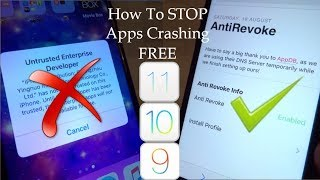 NEW How To STOP Apps Getting Revoked / Crashing iOS 11 / 10 / 9 NO Jailbreak NO PC iPhone iPad iPod