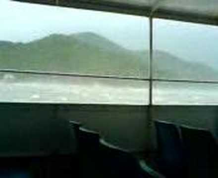 Hong Kong under the attack of Typhoon Prapiroon 2