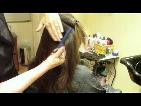 Long Layer Modern Shag Haircut: Hair Tutorial: Thin and Texturize to Decrease Bulk