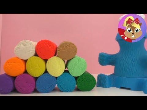 Play Doh Türkçe 12li Oyun Hamuru Seti Ve Kurabiye Canavarı - Yeni Oyun Hamuru Videosu