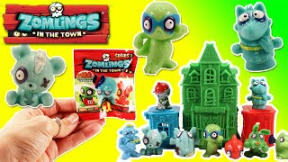 ★Zomlings Blind Bags and Haunted House★ Zomlings Mini Figure Blind Bag Opening Zombies Toys Video