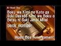 Boku wa Kimi no Koto ga Suki Dakedo Kimi wa Boku o Betsu ni Suki Janai Mitai/back number [Music Box]