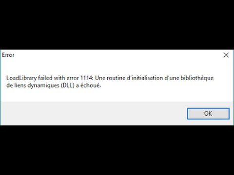 Solucion LoadLibrary failed with error 1114 (DLL) en Windows 10