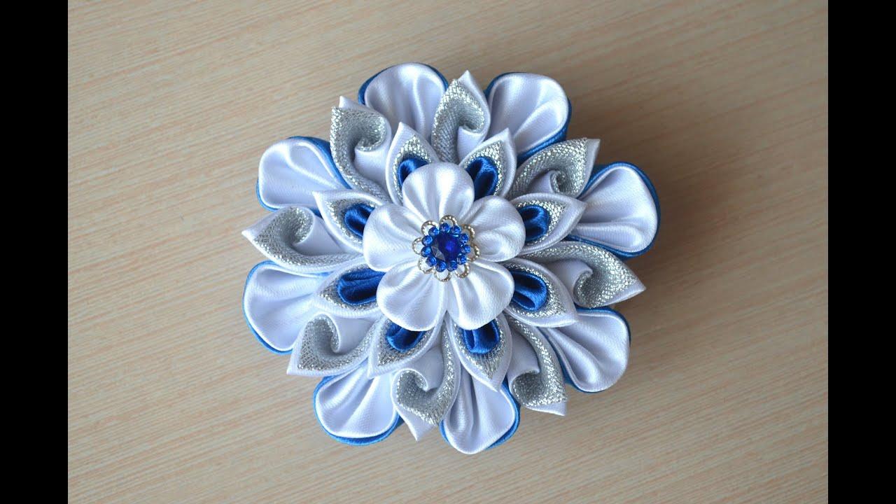 Цветы канзаши своими руками мастер
