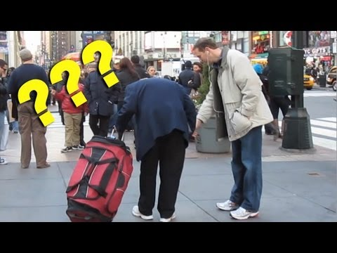 Pointing at Nothing (an idiot in New York City)