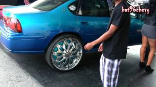 "Female's Candy Teal Impala on 26"" DUB Esinem SL Floaters Pt.1 - 1080p HD"