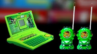 Ben10 Laptop learning toys & ben10 walkie Talkie toys  Unbox & Test in Hindi