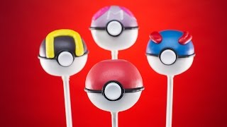 POKEMON POKEBALL CAKE POPS - NERDY NUMMIES