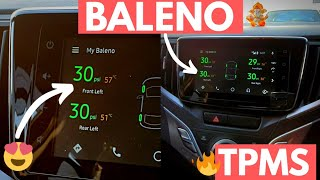 Baleno Car Tyre Pressure Monitoring System with Android Auto | Sensairy TPMS Unboxing & Installation