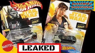 ALL NEW SOLO A STAR WARS STORY HOT WHEELS LEAKS