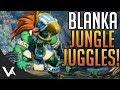 SFV - Blanka, Jungle Juggles! Blanka Ranked Gameplay Matches For Street Fighter 5