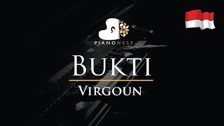 Virgoun - Bukti - Piano Karaoke / Sing Along / Cover With Lyrics