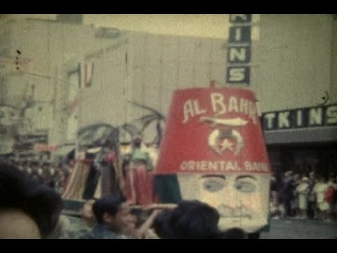 1960's DOWNTOWN SACRAMENTO CA. SHRINERS PARADE